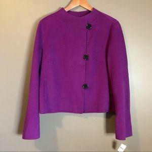 NWT! Talbots purple wool blend coat
